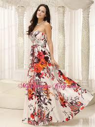 beaded strapless printing evening maxi dresses floor length