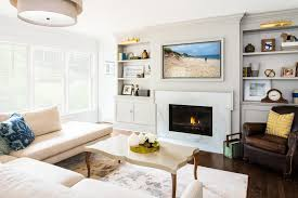 Interior Gas Fireplace Entertainment Center - seattle gas fireplace pictures home office victorian with small