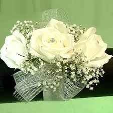 White Wrist Corsage White Wrist Corsage Cherry Blossoms Florist Westminster Co