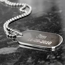 steel dog tag necklace images Personalised stainless steel dog tag necklace menkind jpg