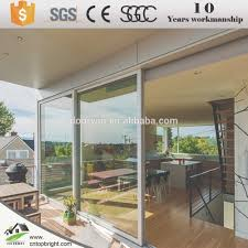 frameless glass stacking doors customized double glazed aluminium stacking doors sliding door