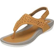 dunlop ladies wedge slingback toe post cushioned sandals ladies