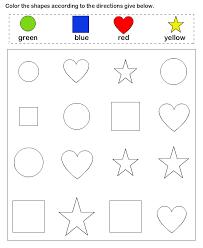 shapes math worksheets preschool worksheets educational