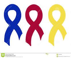 blue and yellow ribbon blue and yellow ribbons stock photo image 24852960
