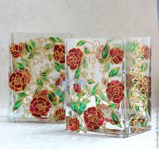 Glass Vase Painting Buy Vase