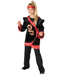 Ninja Halloween Costumes Girls Dragon Red Ninja Child Costume Halloween Costumes