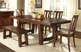 dining room set with bench traditional casual dining room with 6 pieces tahoe rectangular