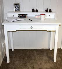 Schmaler Schreibtisch Aus Holz Sekretär 100x91x57cm 1 Große 2 Kleine Schubladen Beine Ohne