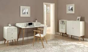 Retro Modern Desk Retro Style White Laptop Desk Ash Wood Legs Opt Chair Oos