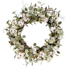 eucalyptus wreath cotton eucalyptus wreath a cottage in the city