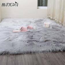 Imitation Sheepskin Rugs Caramel White Faux Sheepskin Rug Long Faux Fur Blanket Decorative