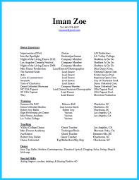 Audition Resume Sample 100 Acting Resume Sample Beginner 100 Performer Resume