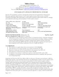 Quality Assurance Resume Examples by Resume Quality Assurance Manager Resume