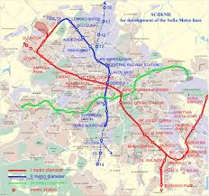 Metro Maps Sofia Metro Map Bulgary