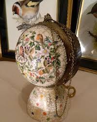 decoupaged christmas bubble relief paint ornaments