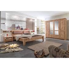Schlafzimmer Komplett Home Affaire Bett Augusta Aus Eiche Mit Gepolstertem Kopfteil Pharao24 De