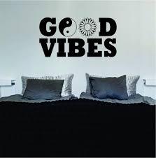 Bedroom Wall Art Words Online Get Cheap Good Vibes Room Decor Aliexpress Com Alibaba Group