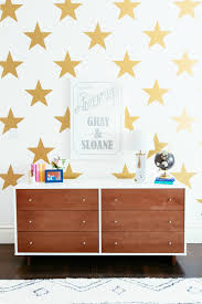 why splurge wallpaper when you can fake project junior gold star wall decals project junior