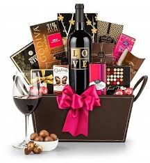 wine and chocolate gift basket chocolate and wine gift basket