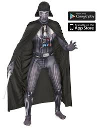 morph halloween costume morphsuit darth vader costume for adults vegaoo