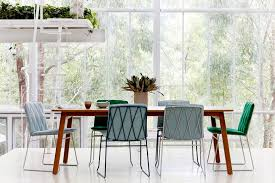 baker street dining table bright dining room wood table and seb chairs designed by jardan lab