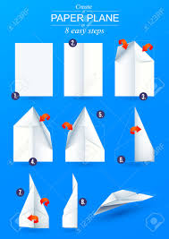 instructions how to make a origami paper plane in 6 easy steps