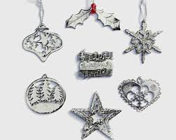 pewter tree ornaments etsy uk