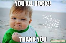 Thank You Very Much Meme - thank you all so much for an amazing the ice cream factory of