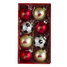 lfc 8pc baubles in tub liverpool fc official store