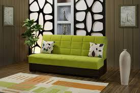 Single Sofa Sleeper Furniture Cool Green Foam Single Sofa Bed Chocolate Wooden