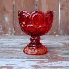 Red Glass Vases And Bowls Shop Vintage Amberina Glass On Wanelo