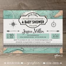 travel themed baby shower travel theme baby shower invitations vintage map diy