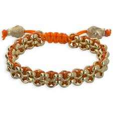 gold plated leather bracelet images Men 39 s 2 row gold chain tangerine leather classic links bracelet jpg