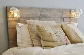 wood headboard with white built in lighting cordoba