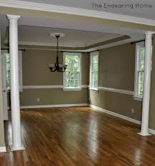 paint colors for dining room with chair rail dining room reveal