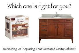 Refinish Vanity Cabinet Bathroom Section The Home Makeover Diva