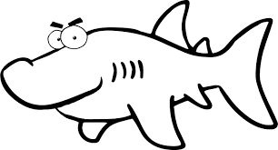 pictures black white shark kids coloring point