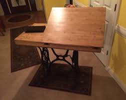 Wooden Drafting Table Drafting Table Etsy