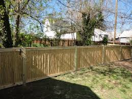 exterior fascinating bamboo fencing with lands and big trees for