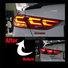 2007 hyundai elantra tail light bulb oem genuine parts led rear tail light l lh for hyundai 2017 18