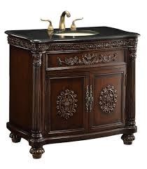 adelina 36 inch antique bathroom vanity fully assembled black