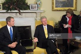 Bill Clinton House President Bill Clinton Meets With President Elect George W Bush