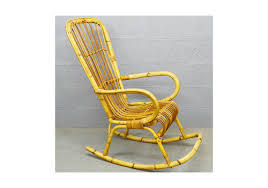Bamboo Rocking Chair Vinterior Vintage Midcentury Antique U0026 Design Furniture