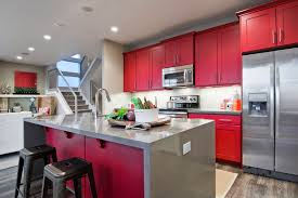 enticing red chalk paint kitchen also red kitchen cabinets with