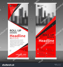 design flyer layout red roll banner stand template design stock vector 2018 737303023