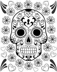 12 best photos of day of the dead skulls printables dia de los