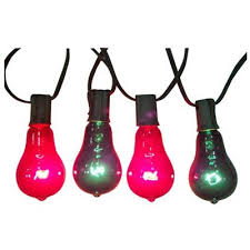 christmas lights replacement bulb edison style red u0026 green 7