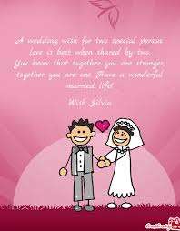 a wedding wish a wedding wish for two special person free cards