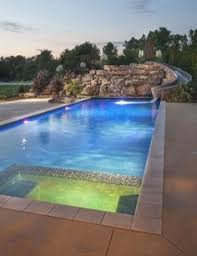 Backyard Swimming Pools by Concrete Pool With An 8 U0027 Round Spa And Many Rock Features