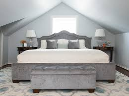 Contemporary Bedroom Bench - bench gray bedroom houzz pertaining to modern house designs best